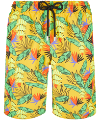 Men Long classic Printed - Men Swim Trunks Long Go Bananas, Curry front