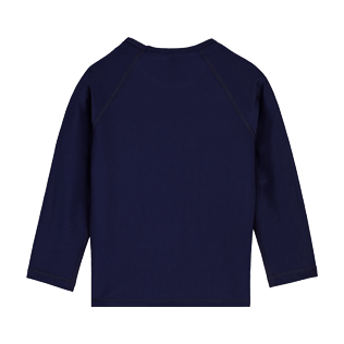 Others Printed - Kids Long Sleeves Rashguard Solid, Navy back