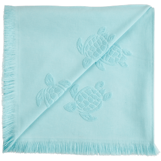 Autros Liso - Futa de tejido terry con estampado Turtles Jacquard, Acqua back