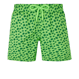 Boys Others Printed - Boys Swimwear Ultra-Light and Packable Micro Ronde des Tortues Fluo, Neon green front