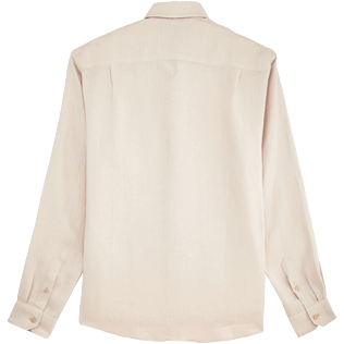 Men Others Solid - Men Linen Shirt Solid, Chalk back