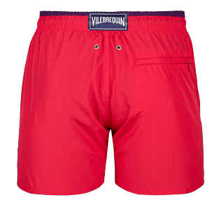 Men Ultra-light classique Solid - Men Ultra-Light and packable Swimwear Solid Bicolor, Gooseberry red back