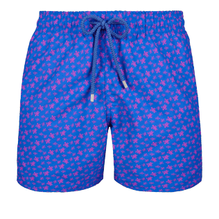 Men Classic Printed - Men Swimwear Micro Ronde Des Tortues, Sea blue front