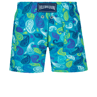 Boys Others Printed - Boys Swim Trunks Ocean Paisley Multicolore, Light azure back