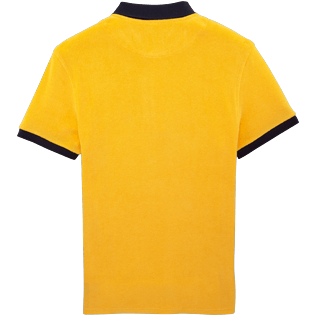 Men Others Solid - Contrasted Terry polo, Turmeric back