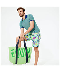 Look Tropical Tortues Vertes homme,  front