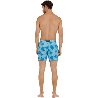Men Stretch classic Printed - Men Swim Trunks Stretch Tortues Hawaï - Web Exclusive, Celestial backworn