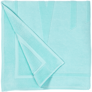 Others Solid - Beach Towel in terry cloth Solid Jacquard, Lagoon back