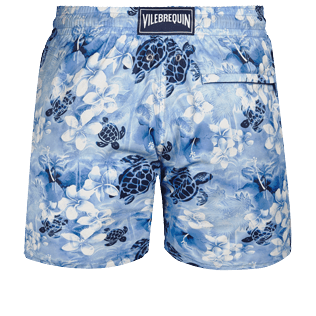男款 Ultra-light classique 印制 - Men Swimwear Ultra-light and packable Turtle Jungle, Batik blue back