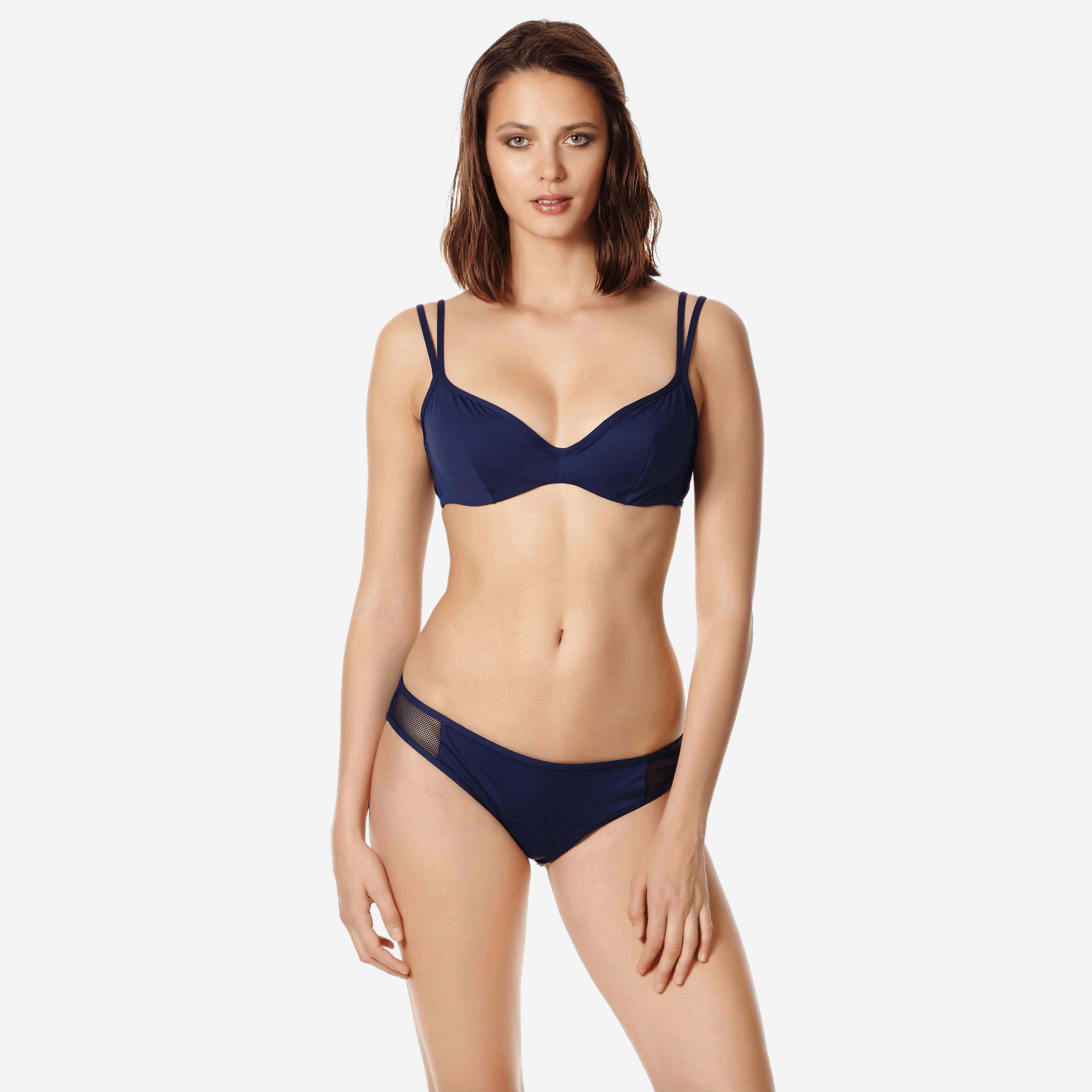 VILEBREQUIN | Women Swimwear - Women Midi Brief Bikini Bottom Solid Net - SWIMMING TRUNK - FAUSTINE - Blue - XXS - Vilebrequin | Goxip