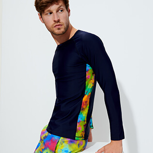 Uomo Altri Stampato - Rash guard uomo Holi Party, Blu marine supp1