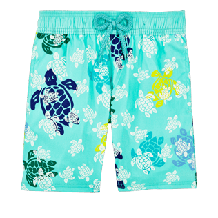 Boys Classic / Moorea Printed - Boys Glow in the dark Swimwear Turtles Gang, Lagoon front
