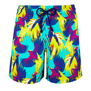 Men Classic Printed - Men Swimtrunks Birds of Paradise, Veronese green front