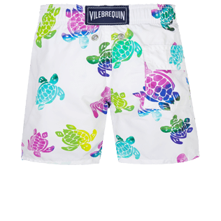 男童 Others 印制 - Boys Swimwear Ronde des Tortues Aquarelle, White back