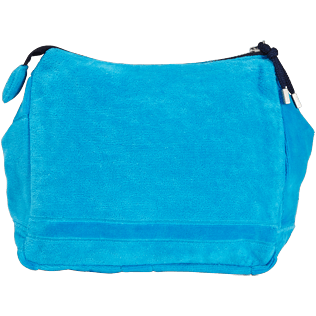 Altri Unita - Borsello da spiaggia in spugna con zip tinta unita Jacquard, Hawaii blue back