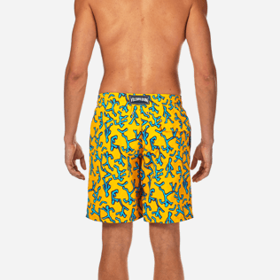 Men Long classic Printed - Danse du Feu Long Cut Swim shorts, Turmeric supp2