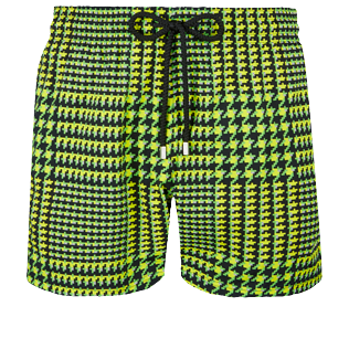 Men Stretch classic Printed - Men Swim Trunks Stretch Crocros, Grass green front