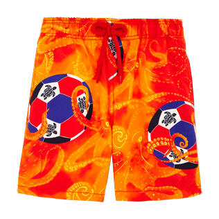 Boys Others Printed - Boys Swimwear Octo Soccer, Poppy red frontworn