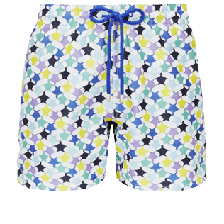 Men 017 Embroidered - Men Swimwear Embroidered - Limited Edition, White front