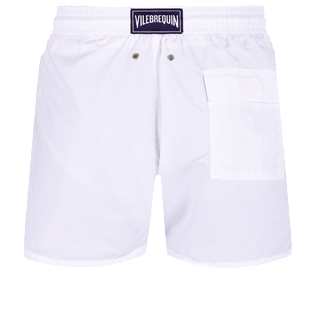 Men Classic Solid - Men Swimwear Solid, White back