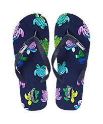 Men Others Printed - Men Flip Flops Rondes des Tortues Aquarelle, Navy front