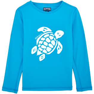 049 Solid - Turtles Anti-UV long sleeves T-Shirt, Azure front
