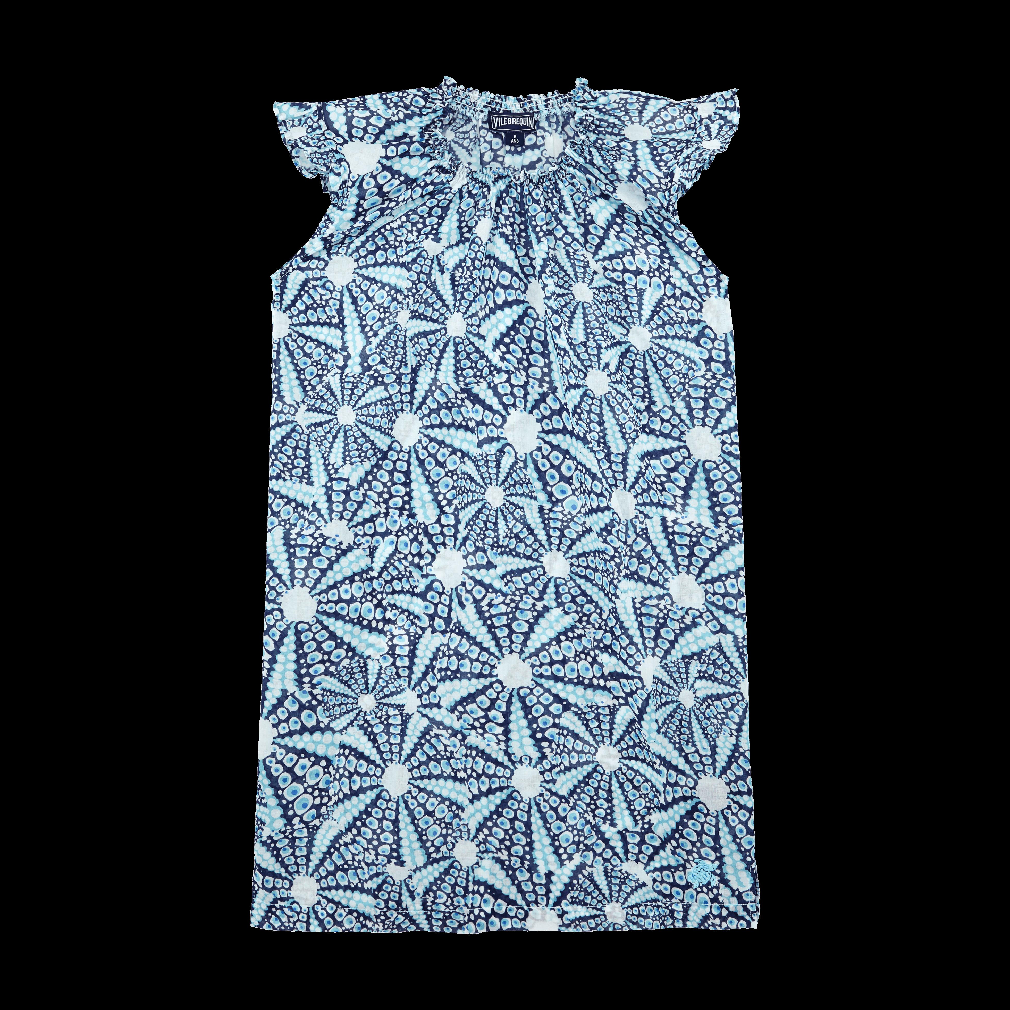 VILEBREQUIN | Girls Ready to Wear - Girls Cotton Voile Dress Oursinade - DRESS - GAPPY - Blue - 12 - Vilebrequin | Goxip