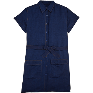 Women Dresses Solid - Indigo Dress, Indigo front