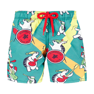 Boys Others Printed - Boys Swimwear Vilebrequin Turtles Tour, Pine wood front