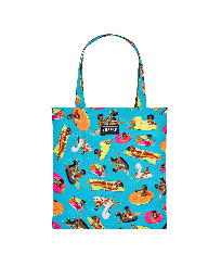 Others Printed - Tote Bag - Vilebrequin x Derrick Adams, Swimming pool front