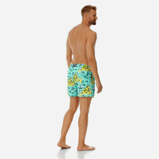 Men Classic Printed - Men swimtrunks Martha's Vineyard, Mint backworn