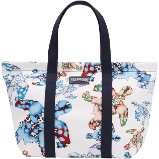 Autros Estampado - Bolsa de playa grande con estampado Watercolor Turtles, Blanco front