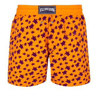 Men Classic Printed - Men Swimtrunks Flocked  Micro ronde des tortues, Safran back