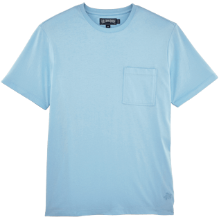 Men Tee-Shirts Solid - Pima Cotton Solid Round neck T-Shirt, Sky blue front