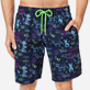 Men Long classic Printed - Men Swim Trunks Long Rabbits and Poodles - Florence Broadhurst, Navy supp1
