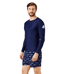 Men Others Solid - Men Rashguard Solid, Navy frontworn