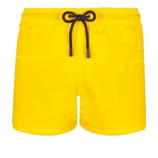 Men Short classic Solid - Men Swim Trunks Ultra-light and packable Solid, Buttercup yellow front