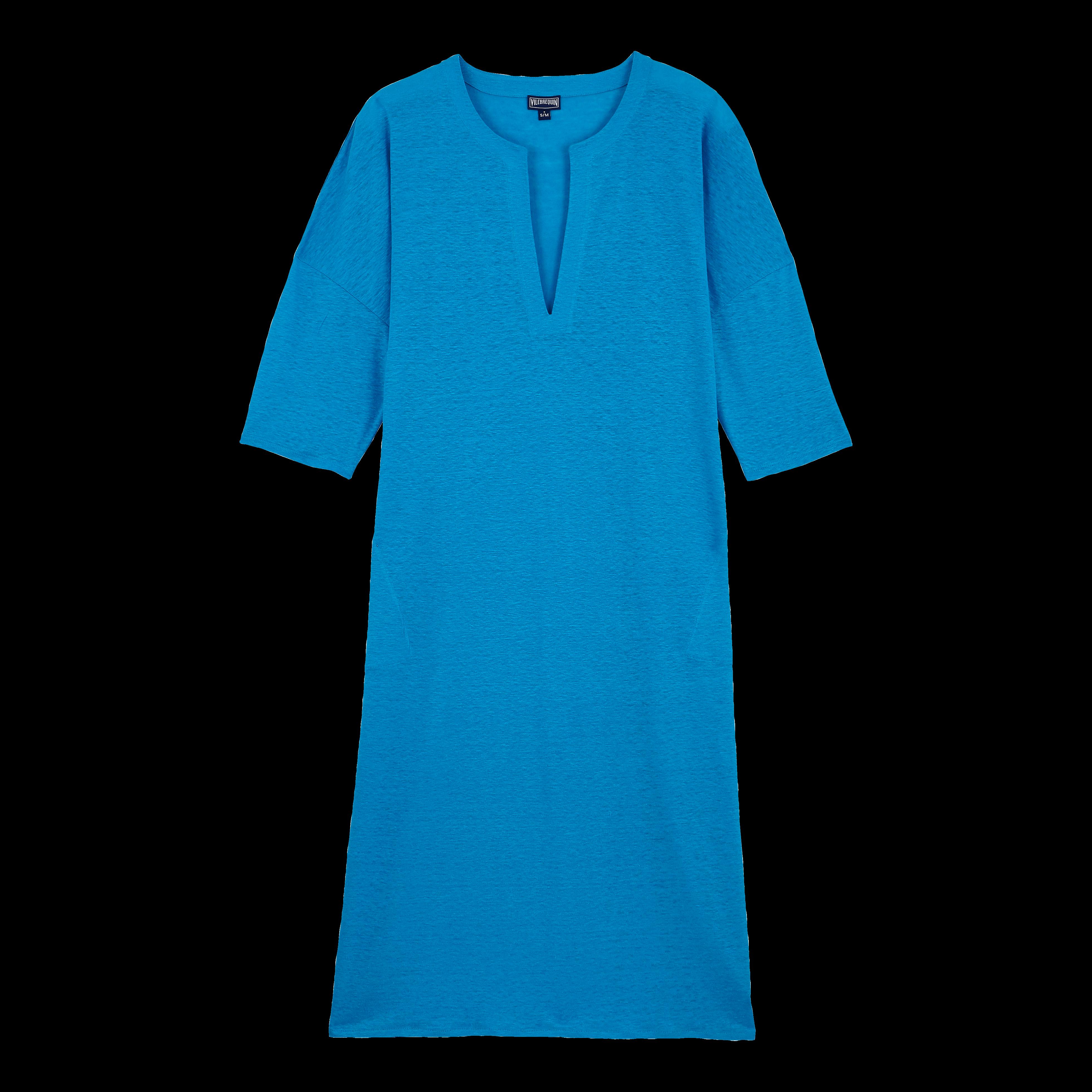 Vilebrequin Women Linen Beach Cover-up Solid In Blue