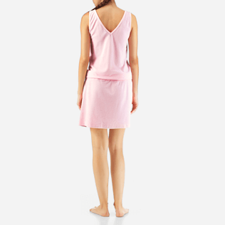 Women Dresses Solid - Solid Terry Tank dress, Peony backworn