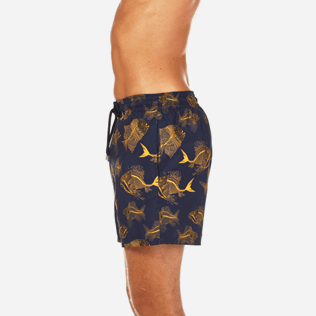 Men Classic / Moorea Printed - Prehistoric Fish Lightweight Packable Swim shorts, Navy supp3