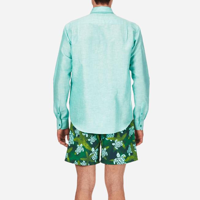 Vilebrequin - Camisa en lino de algodón liso para hombre - 6