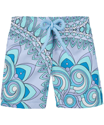 Girls Others Printed - Girls Swim Short Mandala, Lagoon front