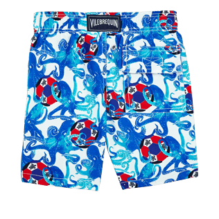 Boys Others Printed - Boys Swimwear Soccer Turtles, White back