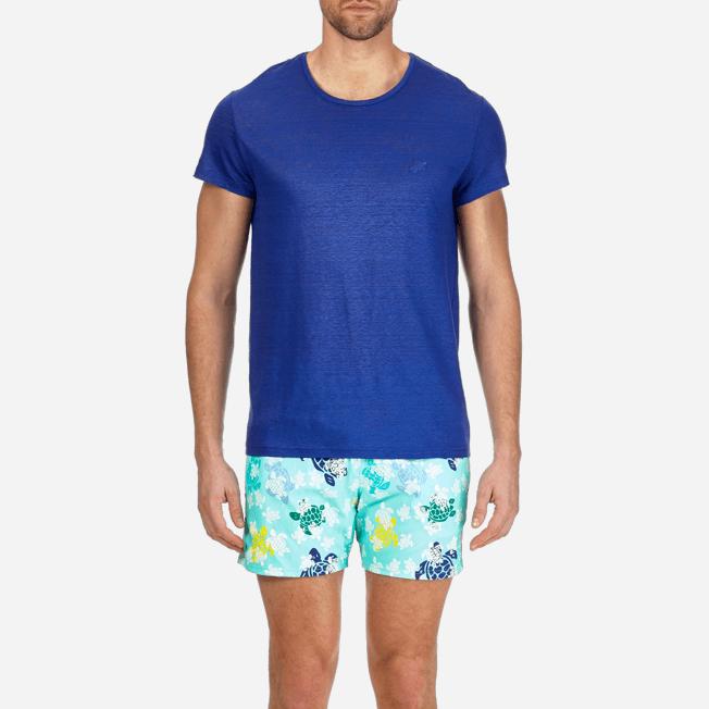 Vilebrequin - Camiseta de lino lisa para hombre - 5