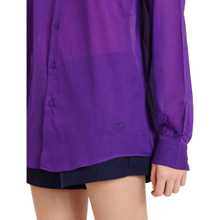Others Solid - Solidsex Cotton Voile Light Shirt Solid, Plum supp3