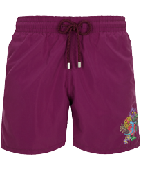 Men Classic Embroidered - Men Swim Trunks Placed embroidery Les Geckos, Kerala front