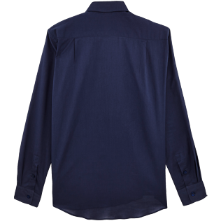 Men Others Solid - Unisex cotton voile Shirt Solid, Navy back