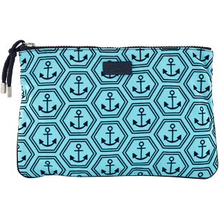 Others Printed - Beach Pouch Ancre De Chine, Tropezian blue front