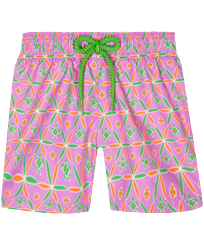 Girls Others Printed - Girls Swim Short Indian Ceramic, Pink berries front