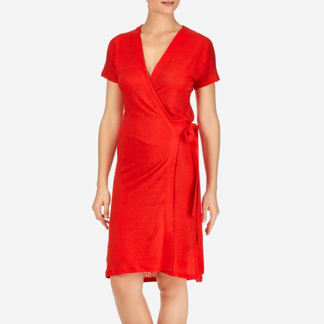 Vilebrequin - Robe Portefeuille Lin Unie - 5